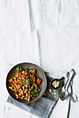 Pumpkin tagine with chickpeas