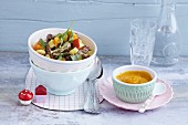 Quick curry with vegetables