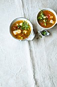 Thai tomato soup with silken tofu