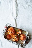 Oven-roasted beefsteak tomatoes