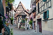 Eguisheim on the Alsatian wine route