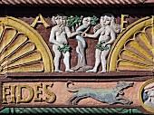 The façade of the 'Adam und Eva Haus', 1560, Paderborn