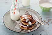 Banana pancakes and Greek yoghurt