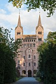 The westwork of Schloss Corvey, Höxter, East Westphalia