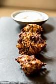 Mücver (crispy fried Turkish courgette balls)