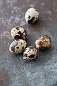 Five quail's eggs