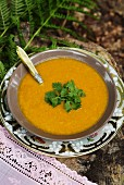 Pumpkin soup with coriander