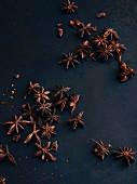 Star anise on a dark surface