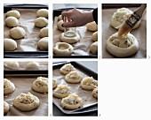 Vatrushka (Kartoffelbrötchen mit Käse, Russland) zubereiten