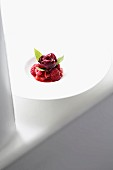 A berry dessert at the restaurant 'Oscillate Wildly'