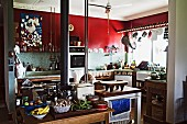 A kitchen on the farm belonging to Sydney's celebrity chef Sean Moran, Bilpin