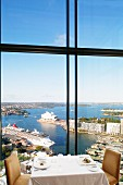 A view from the Altitude restaurant at the Hotel Shangri La in Sydney