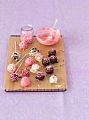 Chocolate truffle cake pops