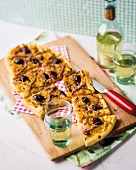 Pissaladiere with fennel, anchovies and olives