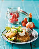 Green tomato escalope