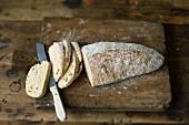 Homemade no-knead ciabatta
