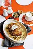 Moroccan chicken with pistachio & coriander couscous