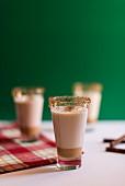 Glasses of cinnamon drink (Christmas)