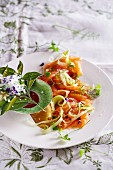 Salmon and fennel carpaccio with orange blossom sauce