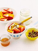 Fruit in spiced syrup