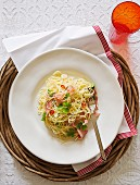 Ham, lemon and parsley pasta