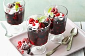 Quick red berry compote