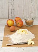Ingredients for apple tart