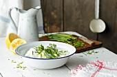 Homemade herb quark