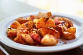 Spicy roast potatoes (Costa Rica)