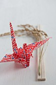 Paper crane and ear of rice (Japan)