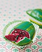 A melon cake pop