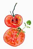 Tomaten-Schneemann mit Petersilie
