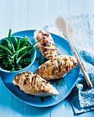 Glazed chicken breast