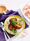 Asian salmon & rice cakes