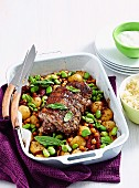 Lamb with spiced chickpeas & taters
