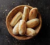 A basket of pizza rolls