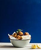 Falafel with lemons