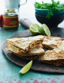 Quesadillas with limes