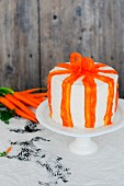 A carrot cake with ginger