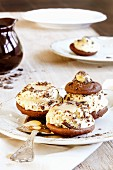 Whoopie pies with egg liqueur