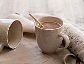 A mug of hot chocolate