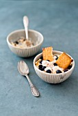Blueberry trifle with butter biscuits