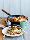 A breakfast omelette