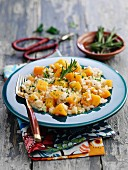 Risotto with butternut squash and rosemary