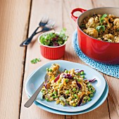 Pilau rice with vegetables