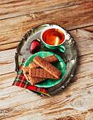 Cardamom chocolate shortbread (vegan)