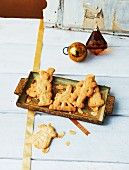 Vegan almond Christmas biscuits
