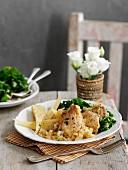 Honey-mustard chicken with parsnips