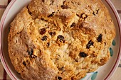 Irish soda bread (seen from above)