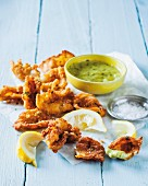 Fried squid with basil aioli